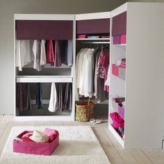 1000 images about meuble on pinterest tvs dressing and - Armoire penderie angle ...
