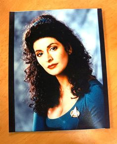 Star Trek: The Next Generation Counselor Deanna Troi Convention Stock Photo