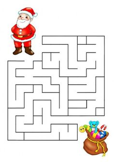 Printable Christmas Maze Game For Kids