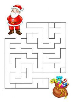 Printable Christmas Maze Game For Kids