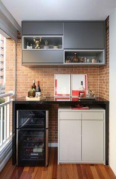 46 Inspiring Mini Bar Design Ideas On Your Apartment Balcony Design # Mini Bars, Balcony Flooring, Sweet Home, Apartment Balconies, Patio Bar, Balcony Design, Small Patio, Small Apartments, Apartment Living