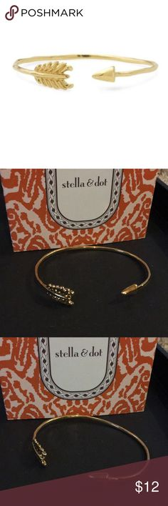 Gilded Gold Arrow Bracelet Used for display only! Beautiful layering piece ... wrapped arrow! Comes in original packaging Stella & Dot Jewelry Bracelets