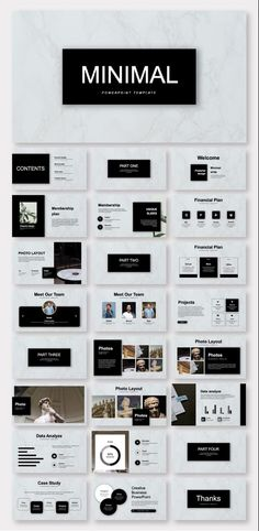 Black & White Minimalist Business Plan Presentation Template – Original and high quality PowerPoint Templates Graphisches Design, Slide Design, Layout Design, Brochure Design Layouts, Photo Layouts, Flyer Design, Keynote Design, Design Presentation, Business Presentation