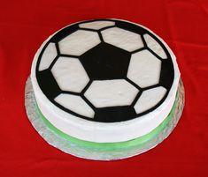 soccer ball cake - too bad I don't have a cricut...
