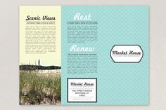 Nautical Bed and Breakfast Brochure Template by Casey Zumwalt