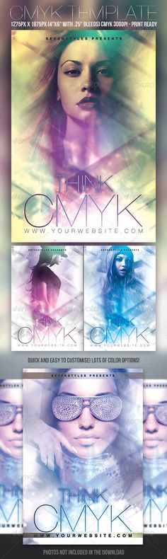 Reveal Flyer Template Glow, Party events and Flyer template - harmony flyer template