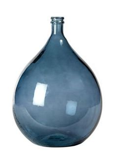 French Glass Olive Jar in Slate Blue