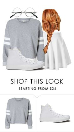 """""""i wanted all gray thicc rim glasses """" by sydthekyd01 on Polyvore featuring Converse"""