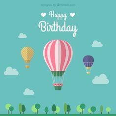 Feliz vetor balão de aniversário