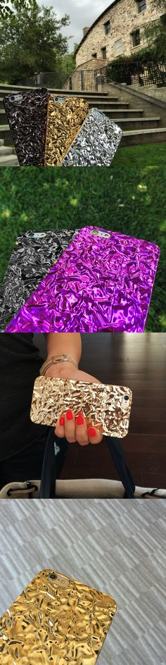 Crystalline Case from Elemental Cases in Gold, Champagne Gold, Titanium Black, Amethyst & Silver. Available for iPhone 6 & iPhone 6 Plus.