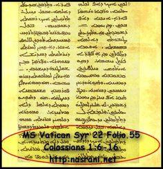 NSC NETWORK MS Vatican Syriac 22 & MS Vatican Syriac 17: Syriac Manuscripts copied in South India