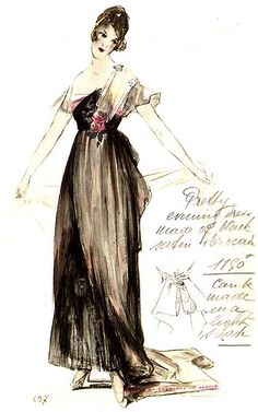 Satin Evening Dress by House of Worth 1916. Designer: Jean-Philippe Worth