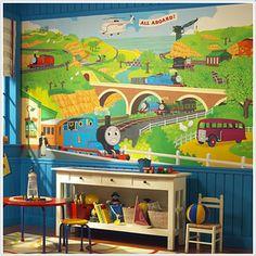 Thomas & Friends XL Wallpaper Mural 6' x 10.5' for C.