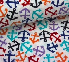Stoff - Anchors Away - Weiß - Alexander Henry