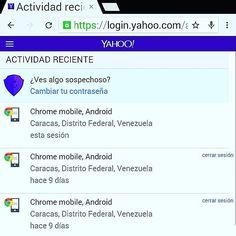 Cambio de #contraseña de #yahoo o fin de sesión en #dispositivo