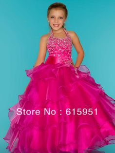 Aliexpress.com : Buy Graceful halter neckline tiered organza tiered flower girls dress little girls pageant dress 2013 patterns JY2081 from Reliable pageant flower girl dress suppliers on Bridal Mall $98.00