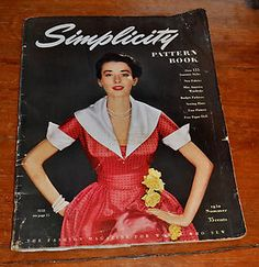 1950 Summer Issue of Simplicity Pattern Book-fashion magazine for women who sew | eBay
