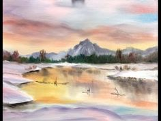 """▶ Paint Along with Larry Hamilton - Dec-18-2013 - Oil Painting-""""Tetons-Winter-Sunrise"""" for Class - YouTube"""