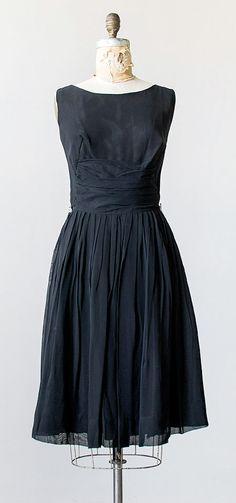 vintage 1960s black pleat chiffon party dress | Adored Vintage #vintagedress #vintage #blackdress