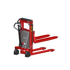 Here at LLM Handling we supply both manual stackers and electric pallet stackers which are both available with straddle legs.
