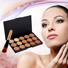 2016 High Quality 1 Set 15 Color Concealer Palette Makeup Contour Palette face Concealer Make up Cream De Corretivo Facial #Creams, #contour