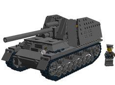 "SdKfz 165 ""Hummel"": A LEGO® creation by Zeggy Kc : MOCpages.com"