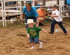 #Benson #Mule Days events include fun activities for kids like the Mule Broom Stick race -- love this photo!