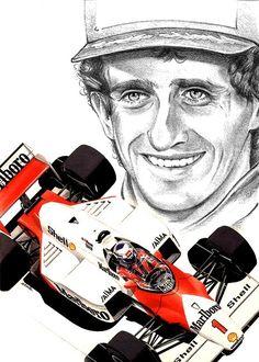 Alain Prost, Mick Schumacher, Michael Schumacher, Formula 1 Car, First Art, Drag Racing, Caricature, Grand Prix, Race Cars