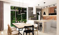 Zdalny Projekt domu w UK w trakcie realizacji - Kuchnia, styl skandynawski - zdjęcie od Grafika i Projekt architektura wnętrz