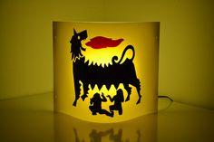 PETROLEVO LAMP. Polipropilene colorato, cm 35*29.7*10.5, Berlino collezione privata.