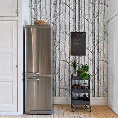 Papier peint woods dans une cuisine