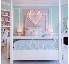 Mint blue master bedroom