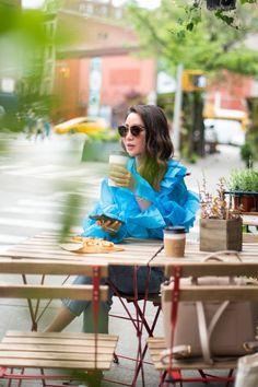 Morning Coffee Date - Rosecrans West Village - Wendy's Lookbook Cute Coffee Shop, Wendy's Lookbook, Fiddle Leaf Fig Tree, Coffee Date, Dior Sunglasses, West Village, Street Style Summer, Vintage Vases, Happy Summer