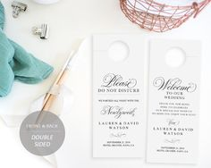 Doublesided Wedding Weekend Itinerary Wedding Schedule Of