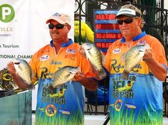 Whitey Outlaw and Mike Parrott at the Crappie Masters National Championship in 2014.
