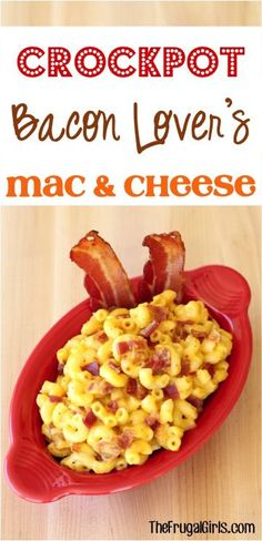 This easy Crockpot Bacon Macaroni and Cheese Recipe is so delicious, and serious comfort food to the max! It will be a family favorite for sure!