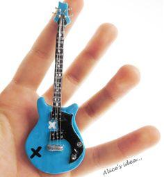 Miniature Guitar necklace. by Alice's idea... www.alicesidea.pl #necklace#guitar#5sos#handmade .