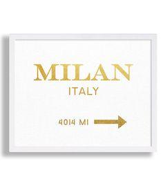 Milan Art Print Faux Gold Foil Print High by MetropolisPrints