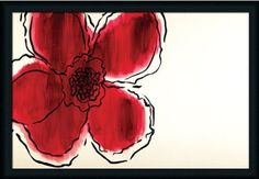 Amazon.com: The Flower Without by David Bromstad Contemporary Red ...
