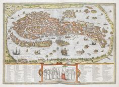 - interesting-maps:  Venice in the 16th century from the...