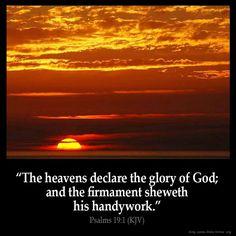 Psalms 19:1 (KJV)