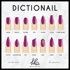 How to Choose the Right Nail Shape for Your Fingers Acrylic Almond Nails can be seen everywhere in the street. They are one of the most popular nail shapes. This nail shape is called Stylish Nails, Trendy Nails, Cute Nails, Natural Nail Shapes, Natural Nails, Summer Acrylic Nails, Best Acrylic Nails, Spring Nails, Shapes Of Acrylic Nails