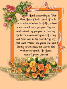 Lord, according to Your Son Jesus Christ, each of us is a wonderful miracle of… Prayers For Hope, Everyday Prayers, Prayers For Strength, Bible Prayers, Prayer For The Sick, Prayer For Today, Daily Prayer, Prayer Request, Prayers