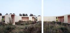 """""""Trail House"""", 2009, temporary house based on the paths of a vacant land, photo: Bas Princen"""