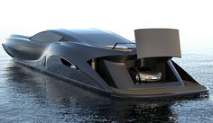 CONCEPT - Yacht-strand-craft-166-gray with car