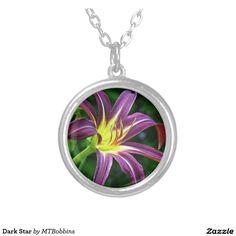 Dark Star Round Pendant Necklace
