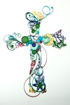 Obsessed With Paper Art: Scrolled Paper Cross