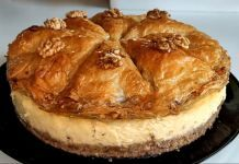 Baklava cheesecake step by step Baklava Cheesecake, Pie, Desserts, Food, Torte, Tailgate Desserts, Cake, Deserts, Fruit Cakes