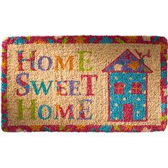 Coconut fibre coir doormat, home sweet home