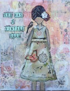 vintage she art by laparis1010 via Flickr from the She Art Workshop